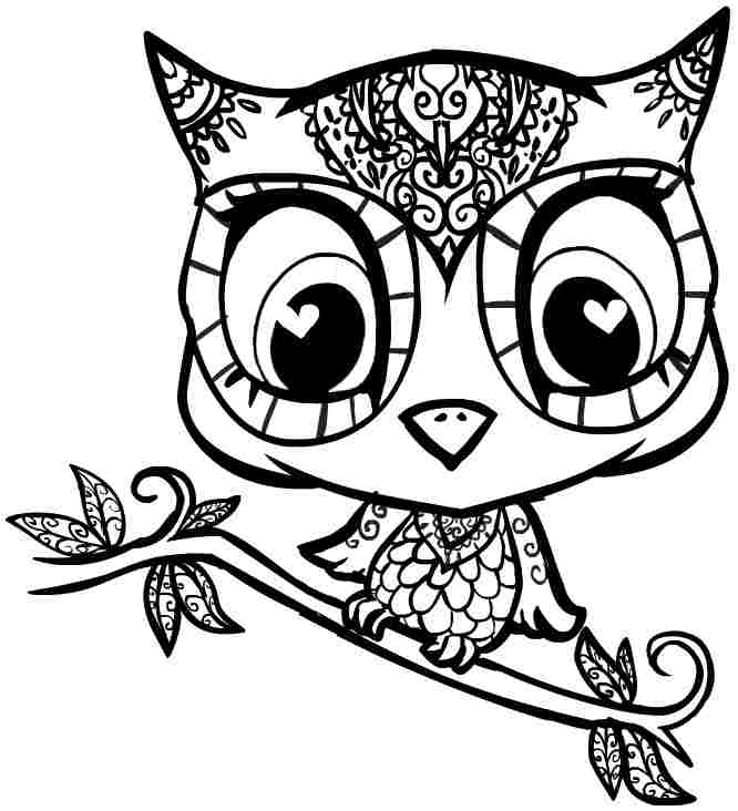 Coloring Page Of An Owl  AZ Coloring Pages
