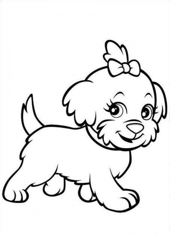 Cute Puppy Coloring Pages To Print | 99coloring.com