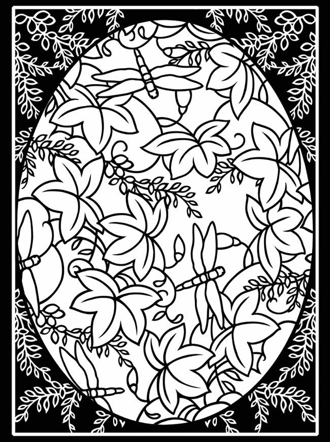 Free printable stained glass coloring pages for adults for Pages for windows