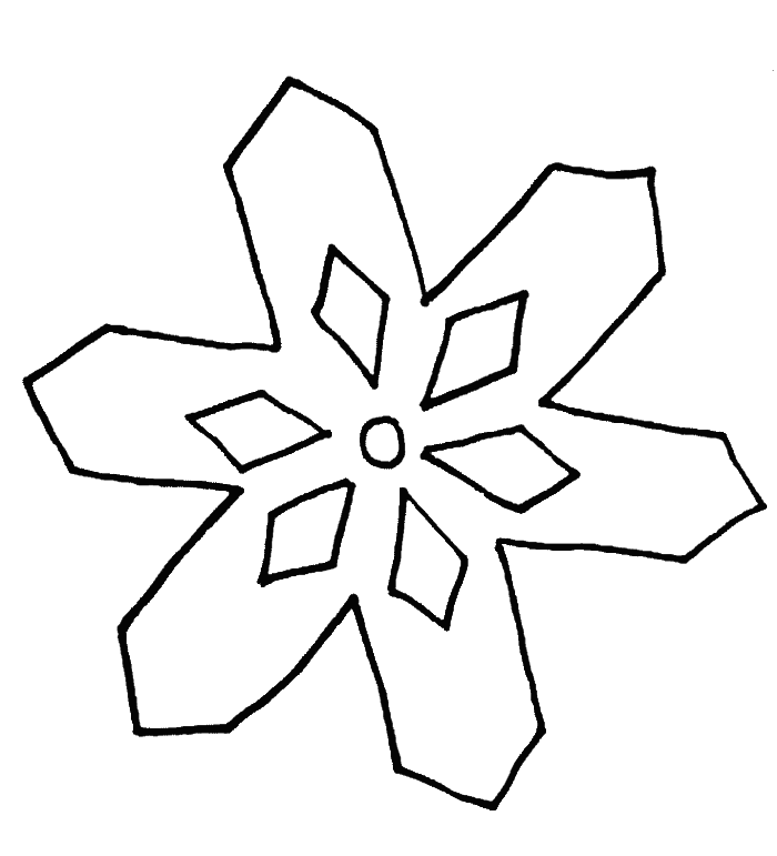 Some Types Of Simple Snowflake Coloring Pages - Winter Coloring