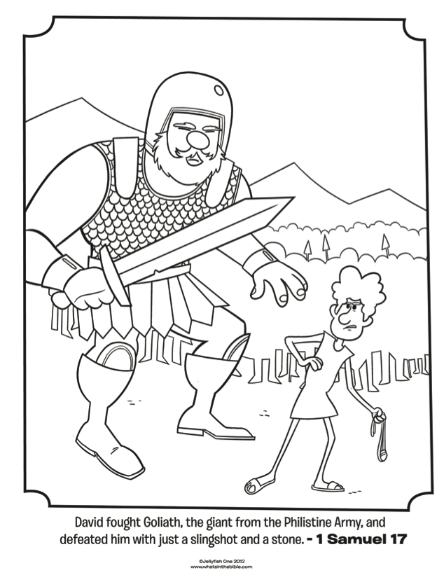 coloring pages david with lyre - photo#23