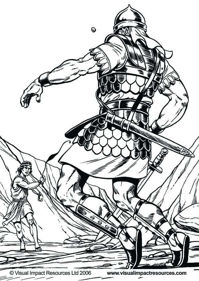 David and goliath coloring page az coloring pages for David and goliath coloring pages for preschoolers