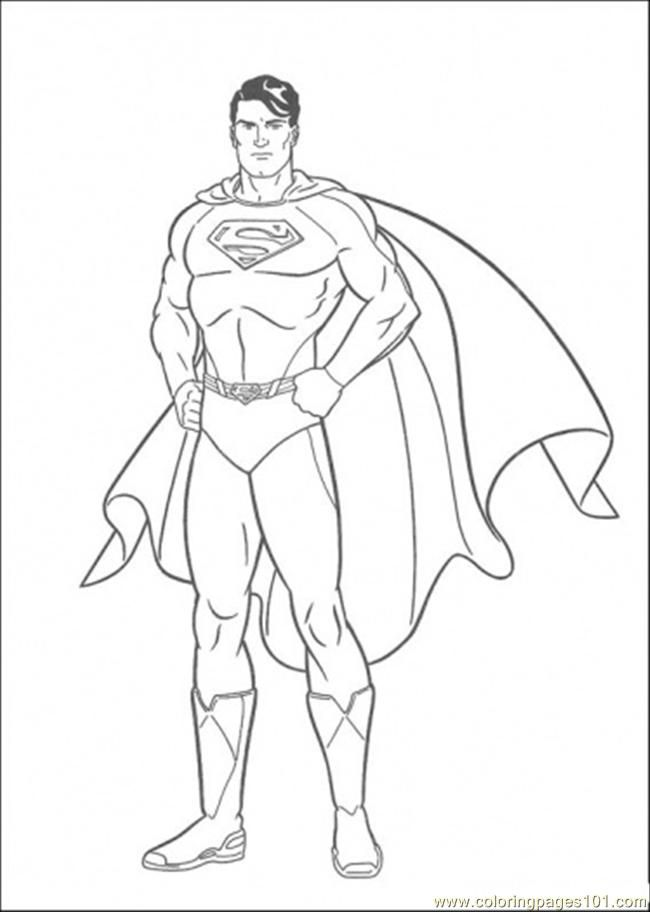 Coloring Pages The Picture Of Superman (Cartoons > Superman