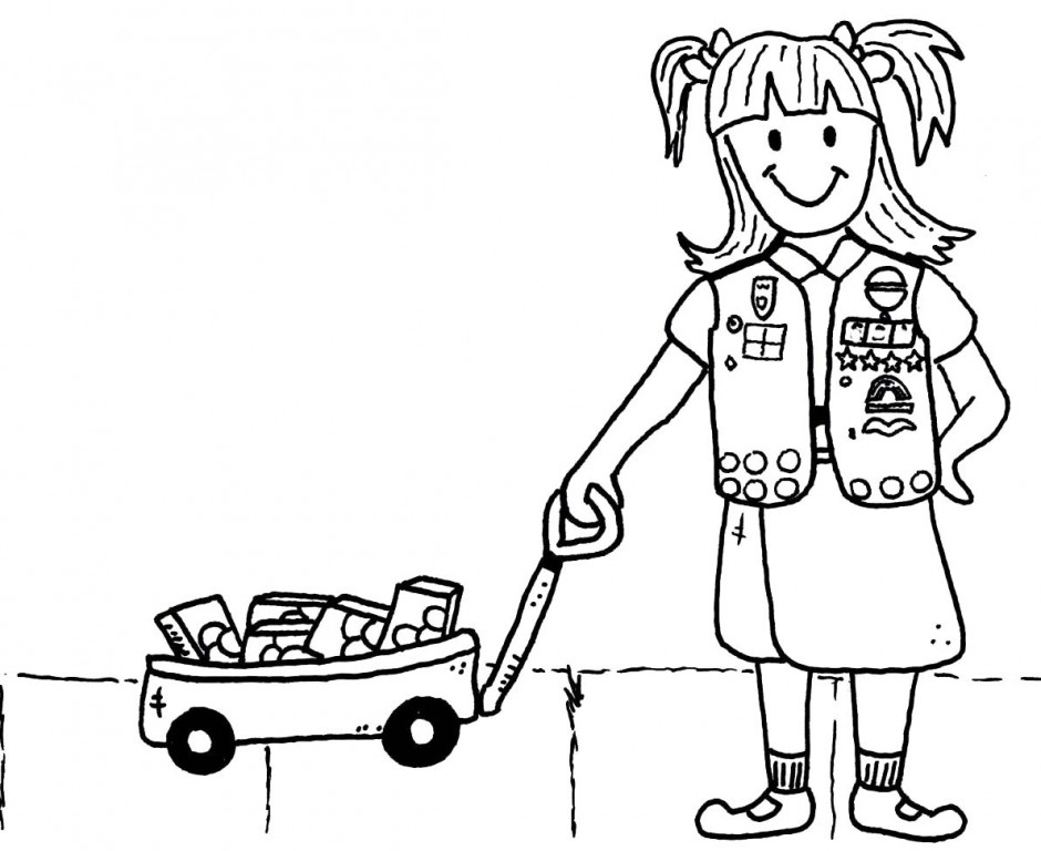 Girl Scout Promise Coloring Pages Az Coloring Pages Scout Promise Coloring Page Free