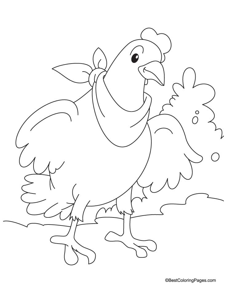 hens coloring pages - photo#29