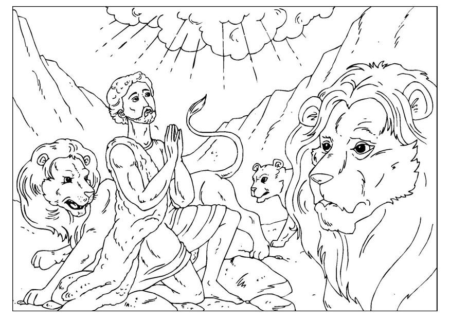 Daniel Lions Den Coloring Pages - Coloring Home