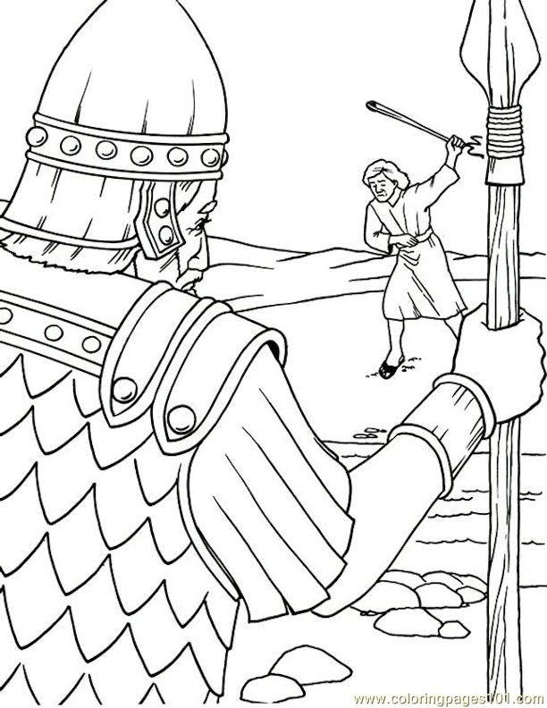 david and goliath coloring page - david and goliath coloring page az coloring pages