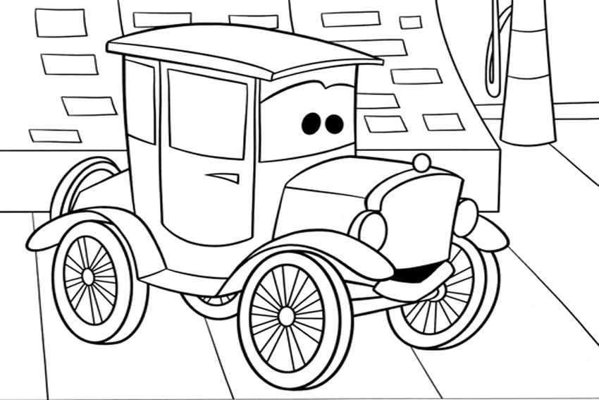 movie cars free coloring pages - photo#10