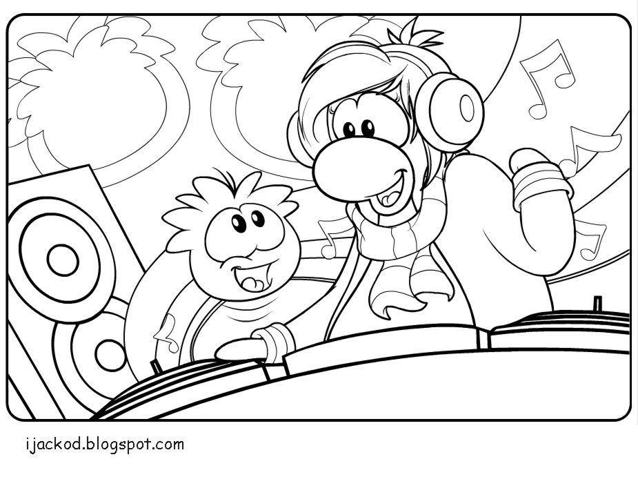 IJack O D Colouring Pages Club Penguin