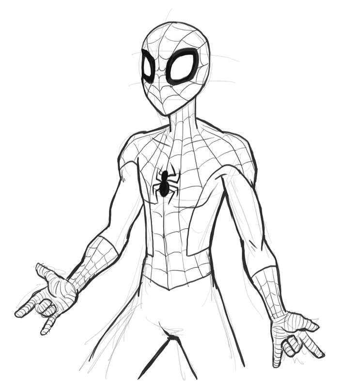 Spiderman Drawing Pictures