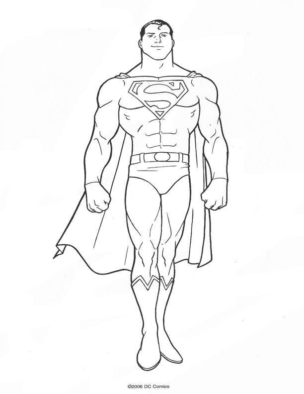 Coloring pages superman - picture 18