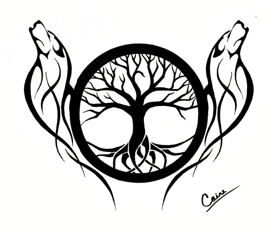 Celtic Tree Of Life Outline Az Coloring Pages