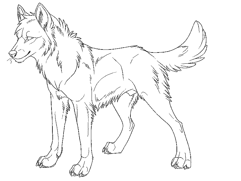 Anime wolf coloring pages az coloring pages for Free printable wolf coloring pages