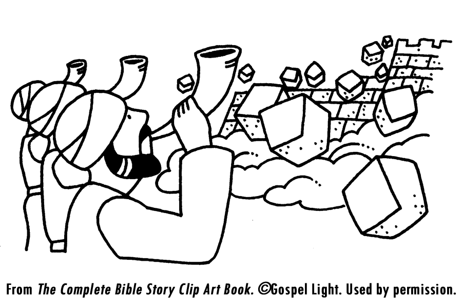 Joshua, Jericho and the Promissed Land Coloring Pages