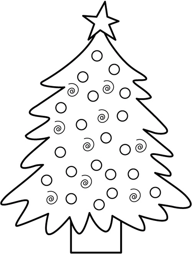 Christmas Tree Coloring Pages - Picture 15 – Christmas Tree