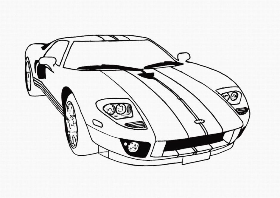 Going Fast in a Car Fast Cars Coloring Pages