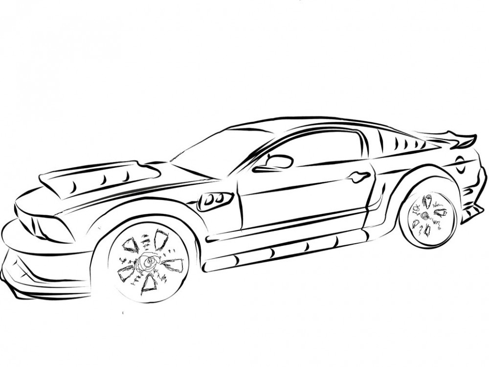 Coloring Pages Mustang Car : Mustang car coloring pages az