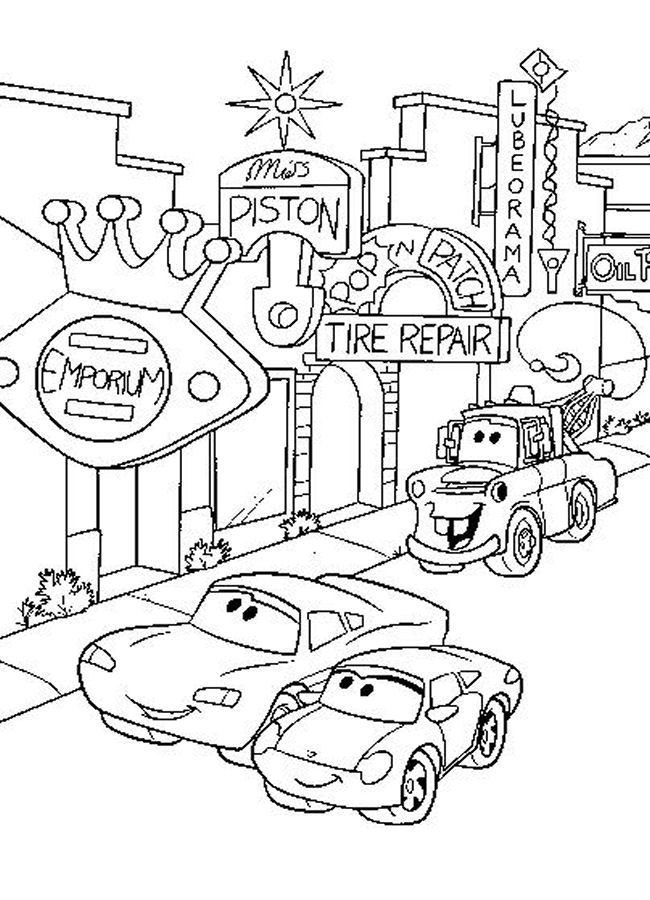 Disney Cars Coloring Page 4