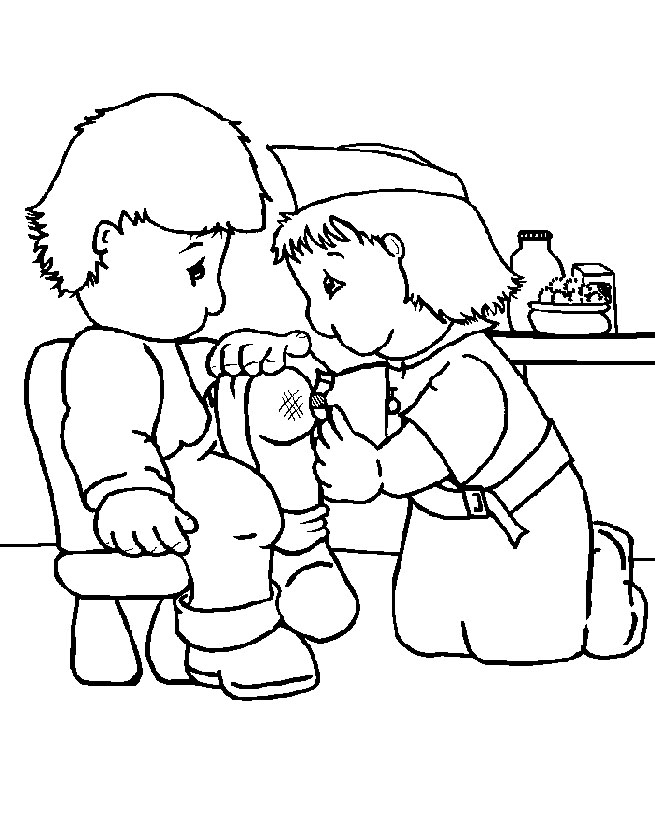 nurse coloring pages - photo#31