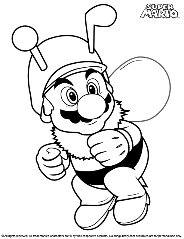 Mario Coloring Pages Pdf : Super mario brothers coloring picture az pages