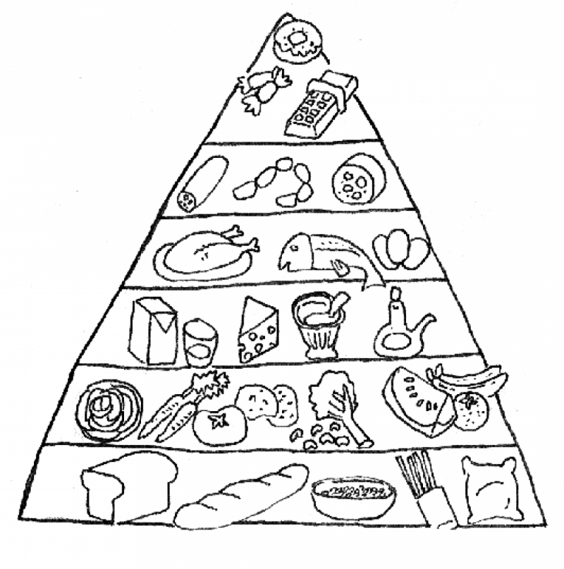 Line Drawing Food : Healthy kids coloring pages home