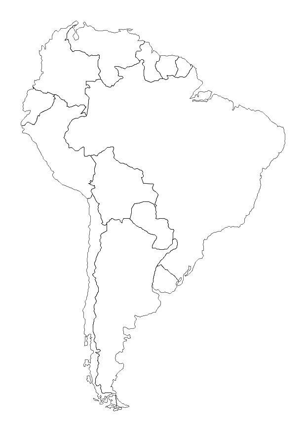 Coloring page South America - img 10700.