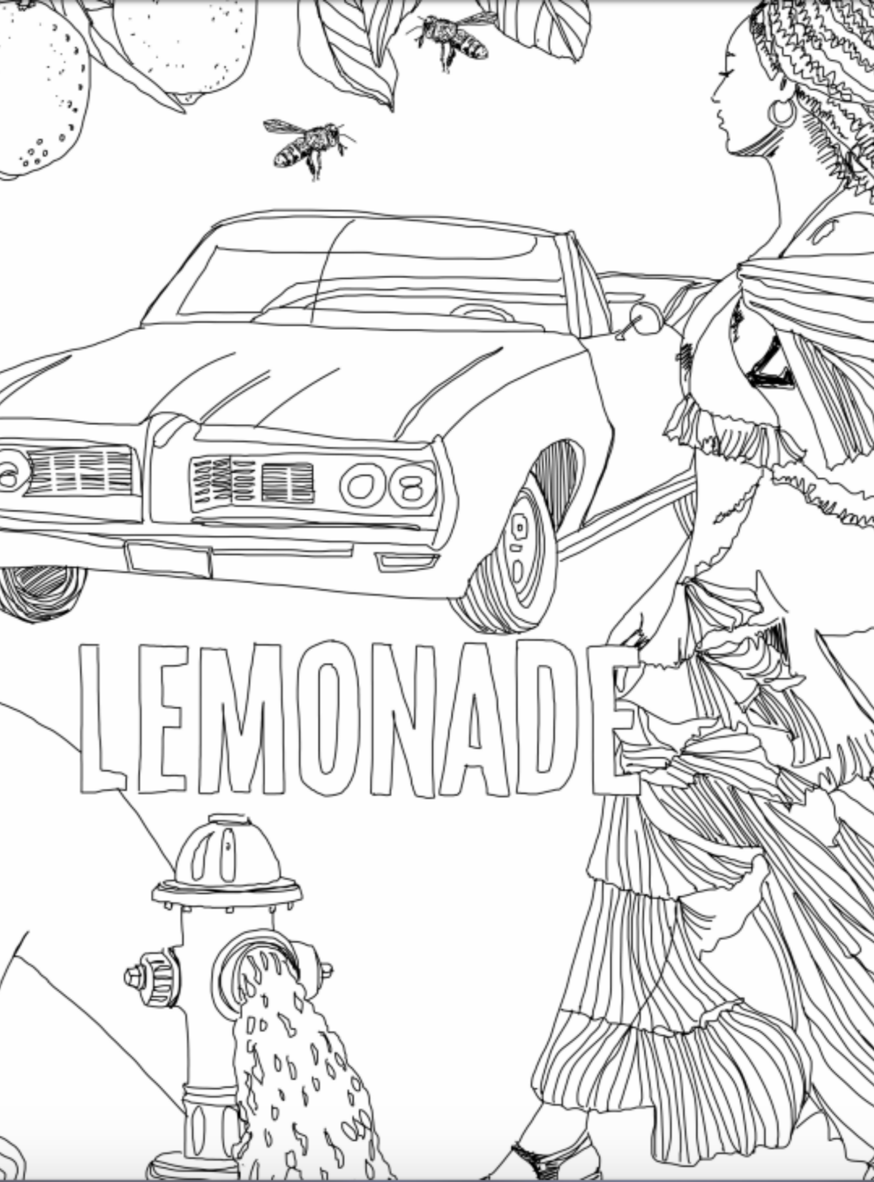 beyonce coloring pages coloring home rh coloringhome com Beyonce Lemonade Booklet Beyonce Lemonade Diet