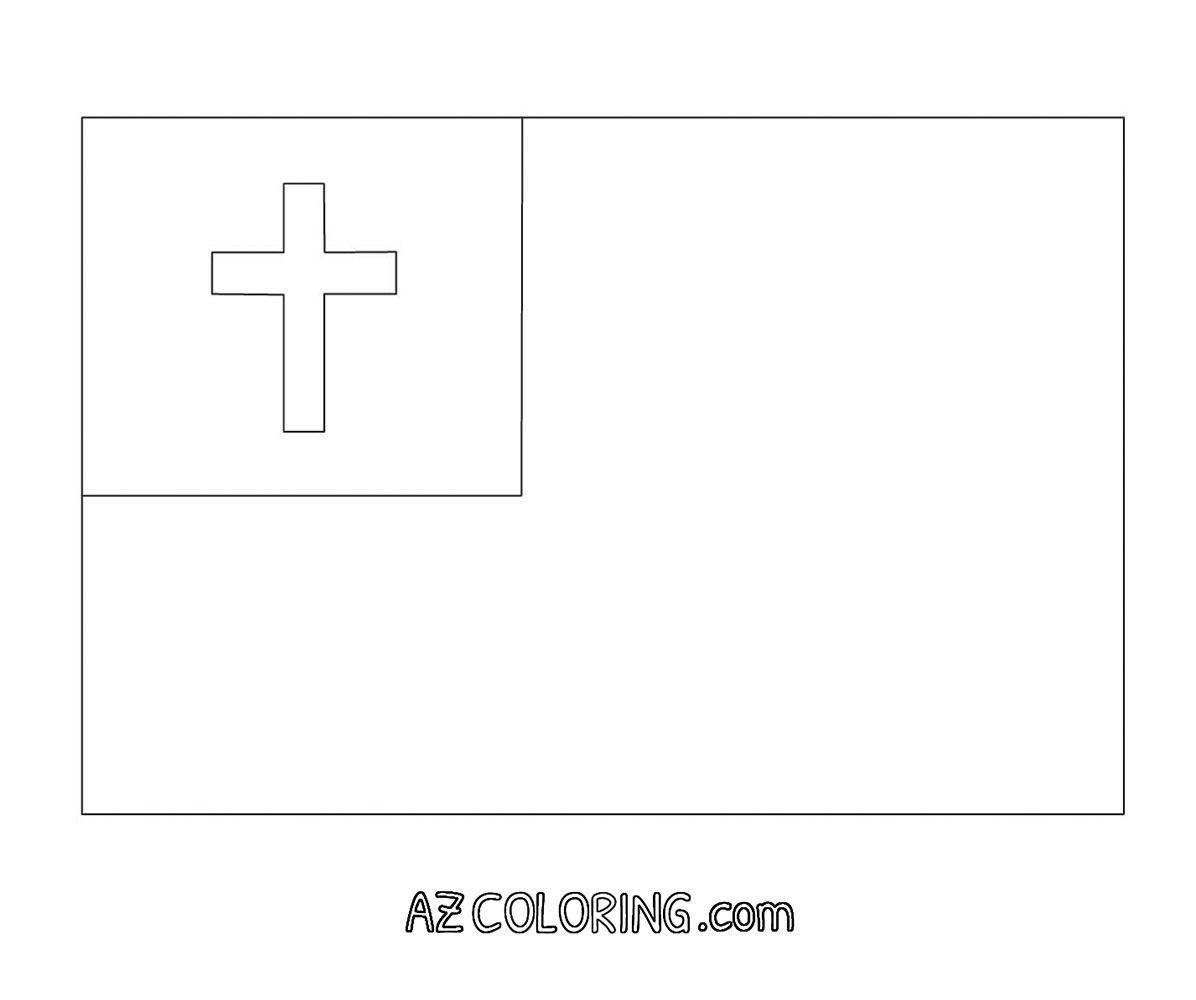 christian flag coloring page coloring home