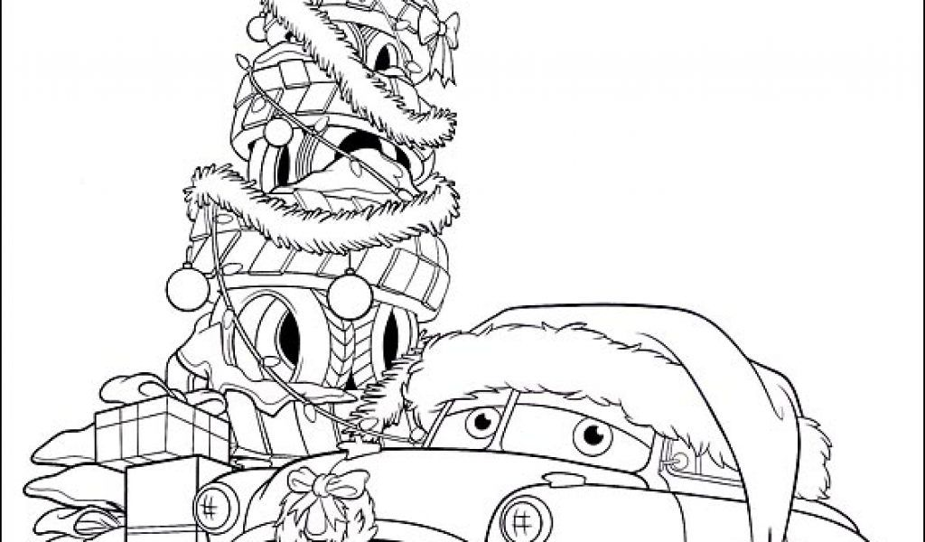Cars christmas coloring pages coloring home for Cars christmas coloring pages