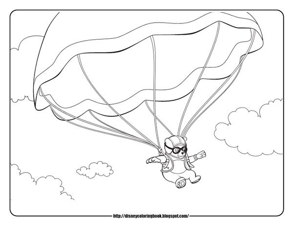 Parachute Coloring Pages Coloring Home