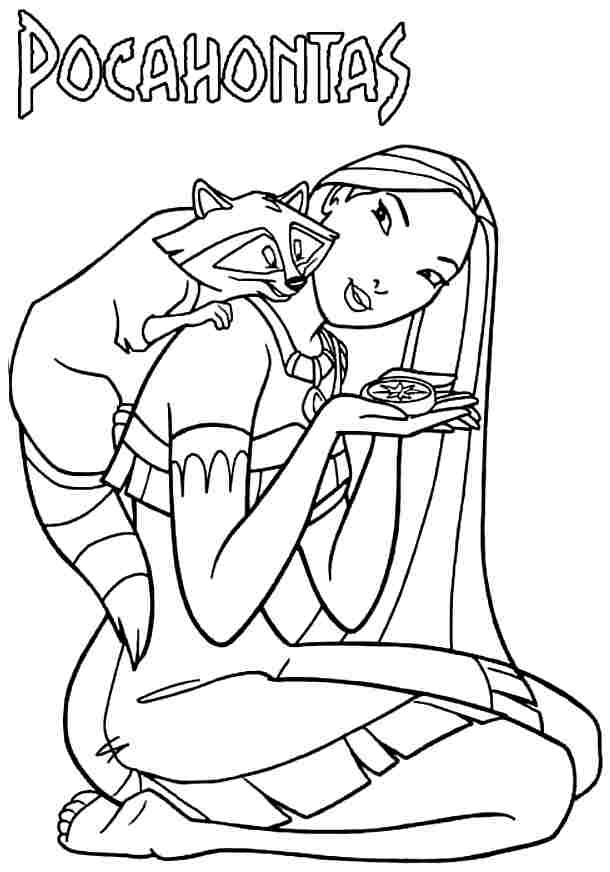 Free Printable Pocahontas Coloring Pages For Kids | 872x610