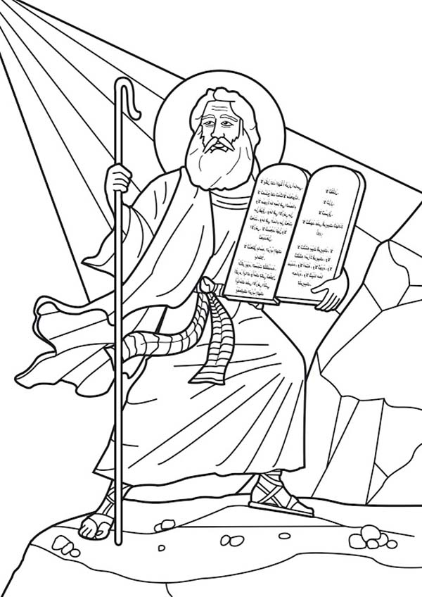 coloring pages ten commandments tablets for sale | Printable Ten Commandments Stone Tablets Sketch Coloring Page