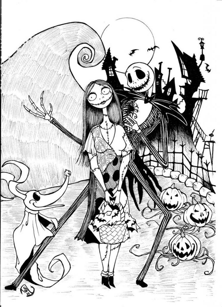 The Nightmare Before Christmas Coloring Pages Coloring Home The Nightmare Before Coloring Pages