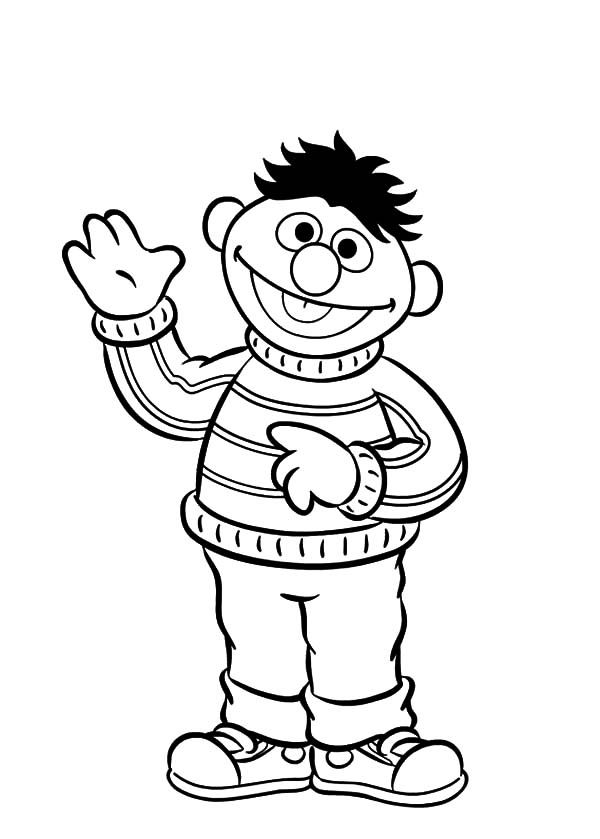 ernie-coloring-pages | Free Coloring Pages on Masivy World