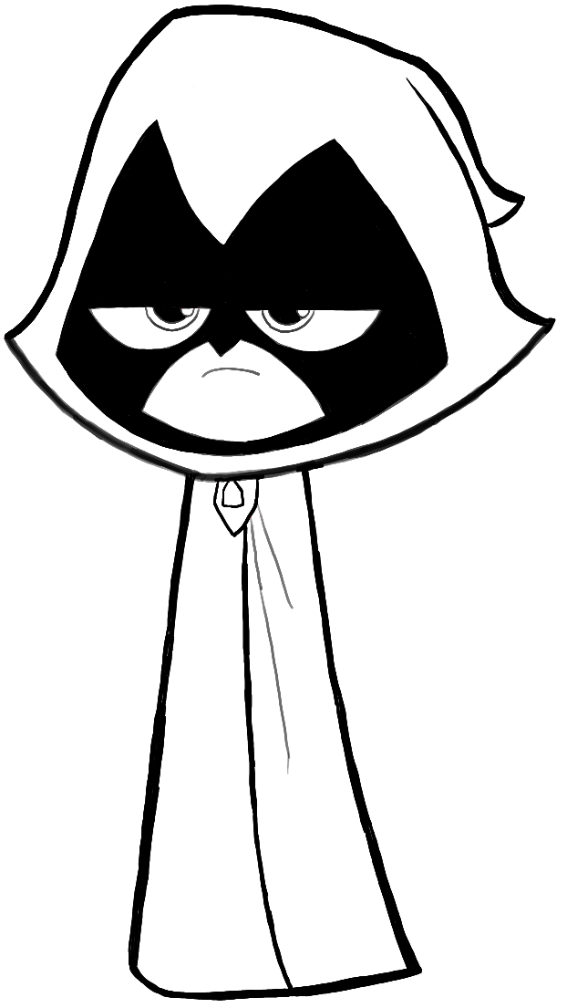 Coloring pages teen titans go raven coloring home for Teen titans coloring pages