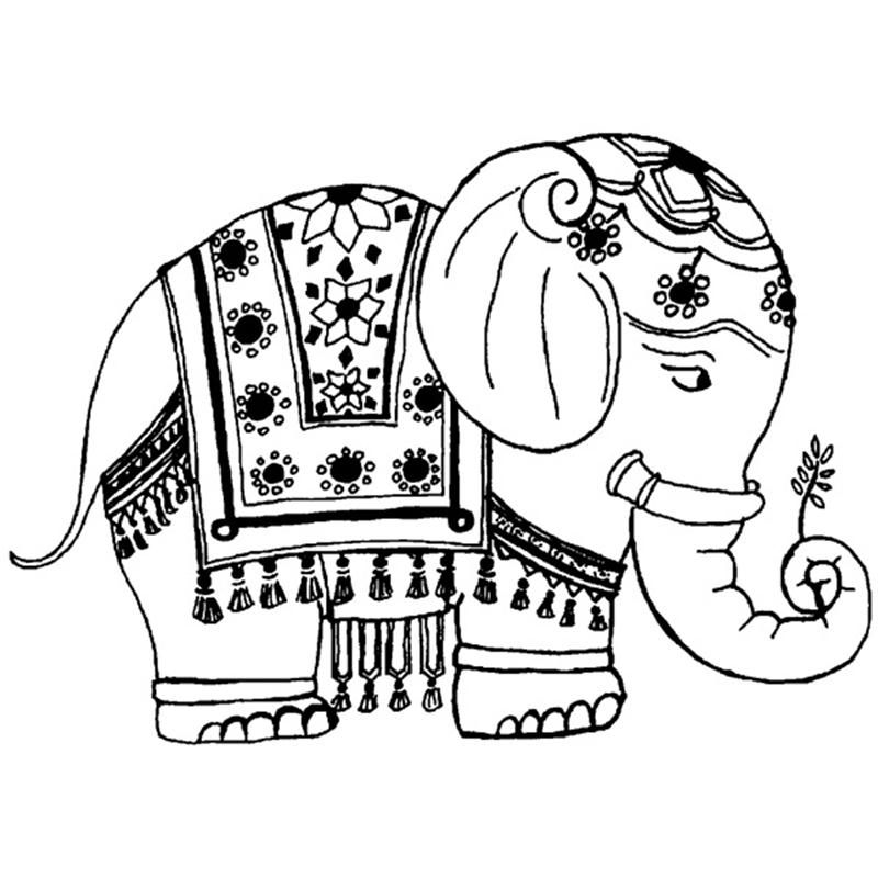 Indian Elephant Coloring Page - Coloring Home