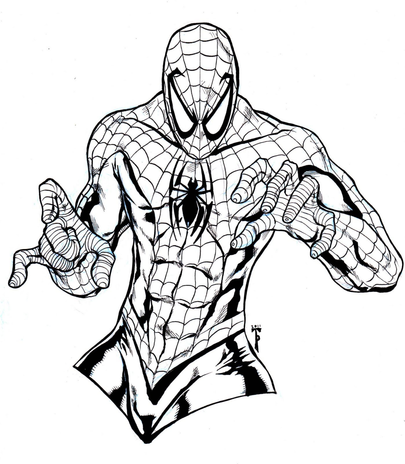 Spiderman online coloring pages for kids - Free Printable Spiderman Coloring Pages For Kids