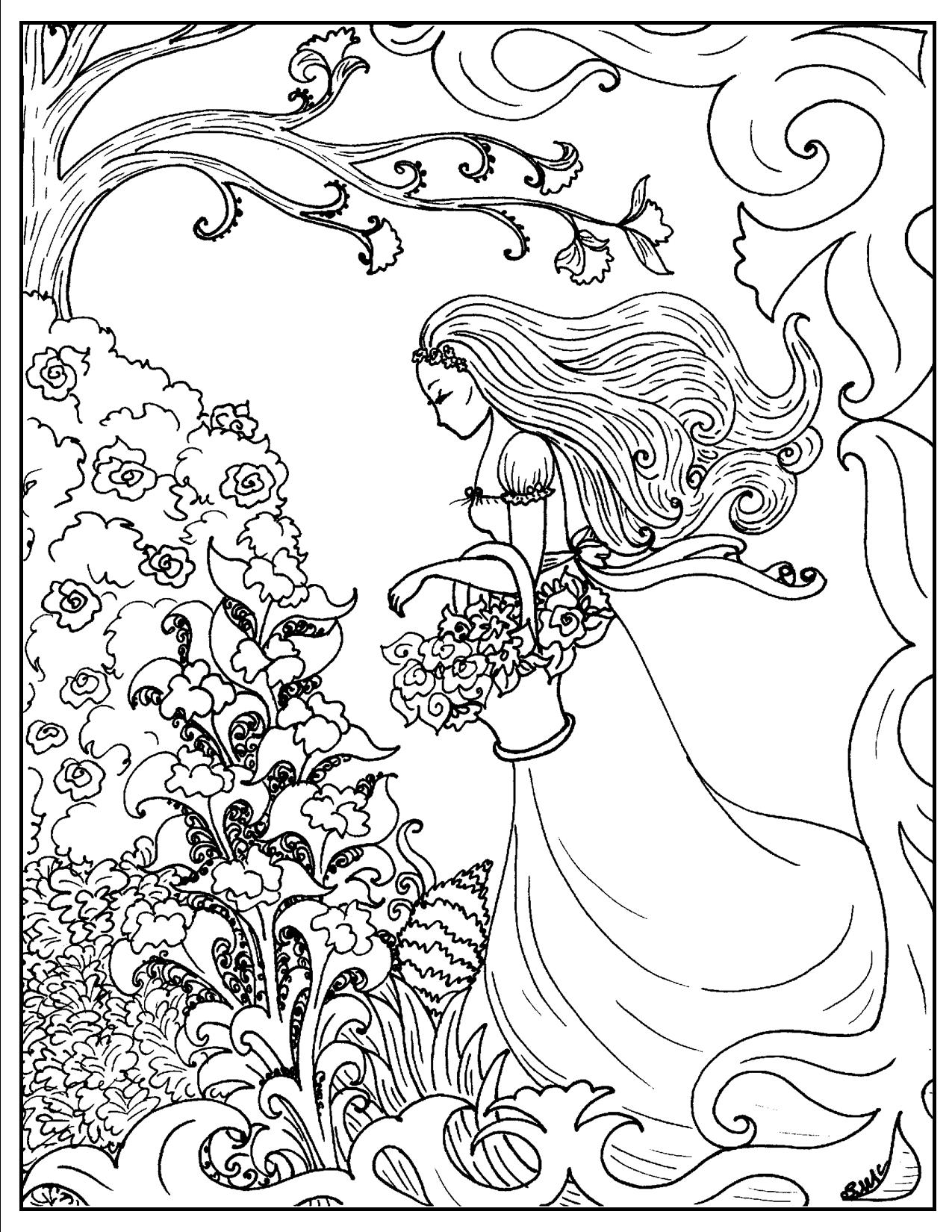 S mac coloring pages - Art Nouveau Coloring Pages To Download And Print For Free