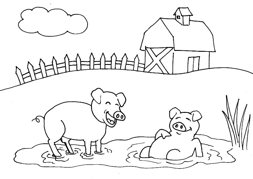 Place Pig Coloring Pages Coloring Pages For Kids #boN : Printable ...
