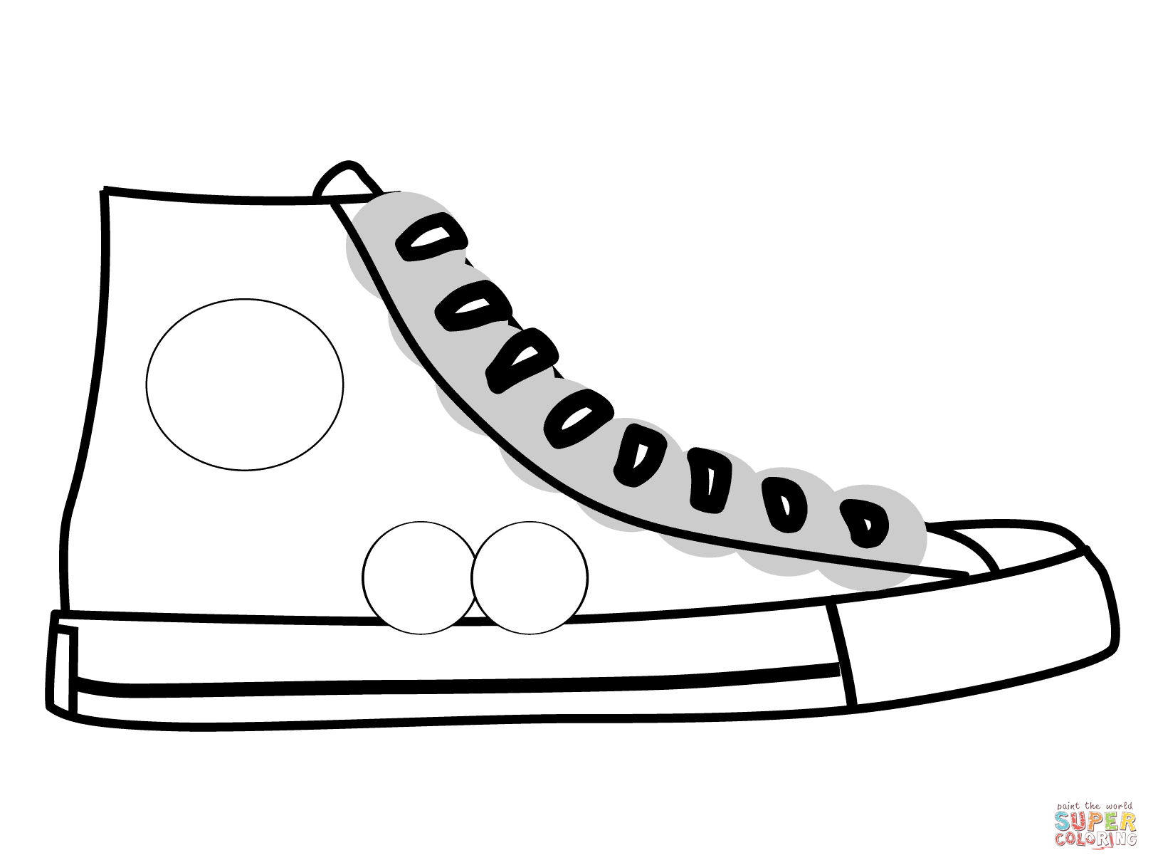High Top Shoe coloring page | Free Printable Coloring Pages