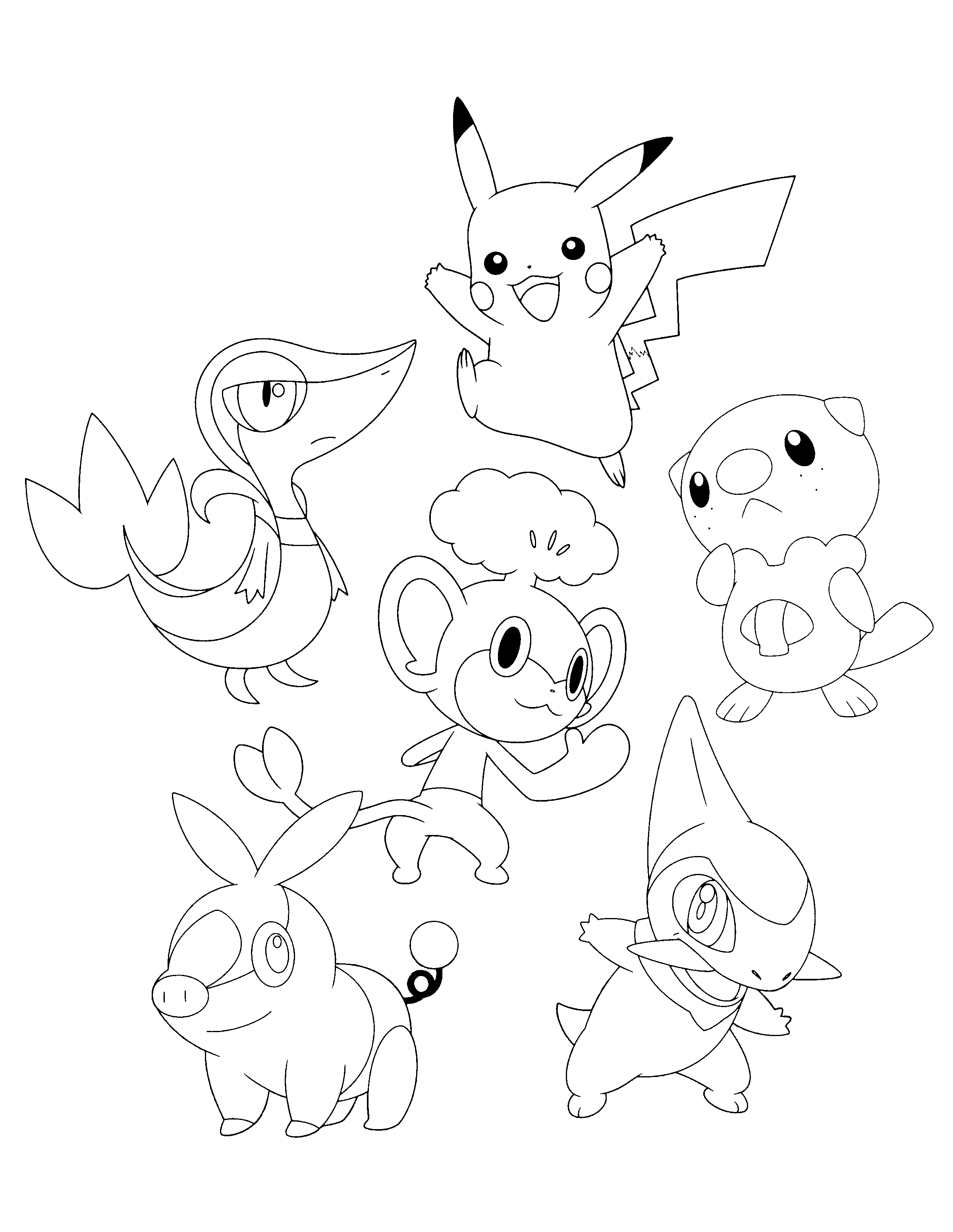 coloring pages pokemon snivy plays - photo#30