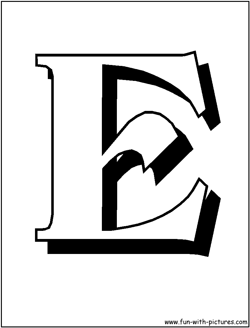 Letter E Coloring Pages Only Coloring Pages Coloring Home