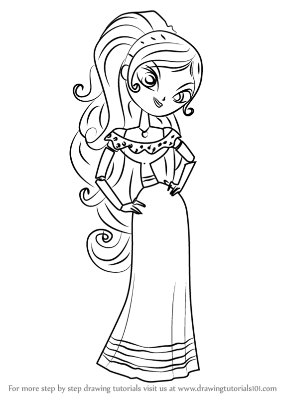 Learn How to Draw Maria Posada from The Book of Life (The Book of Life)  Step by Step : Drawing Tutorials | Book of life, Coloring pages, Coloring  pages to print