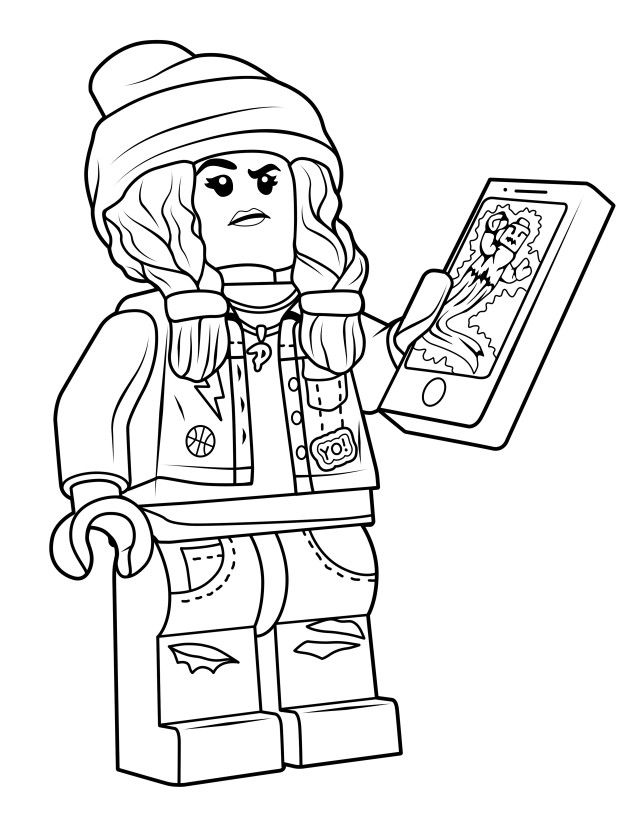 Parker Jackson Coloring Page from Hidden Side - True North Bricks | Lego  coloring pages, Coloring pages, Lego coloring