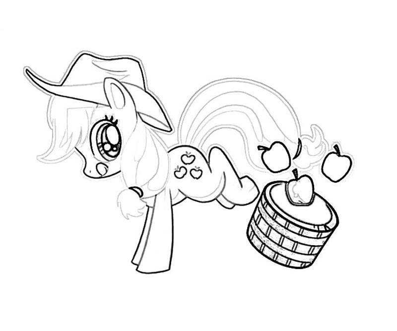 My Little Pony Applejack Coloring Pages Coloring Home