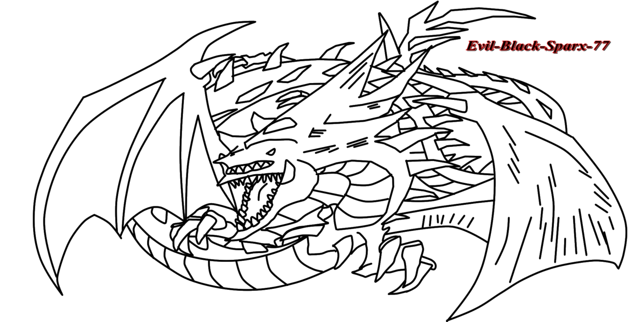 Dragon City Coloring Pages: Evel Dragon Coloring Pages