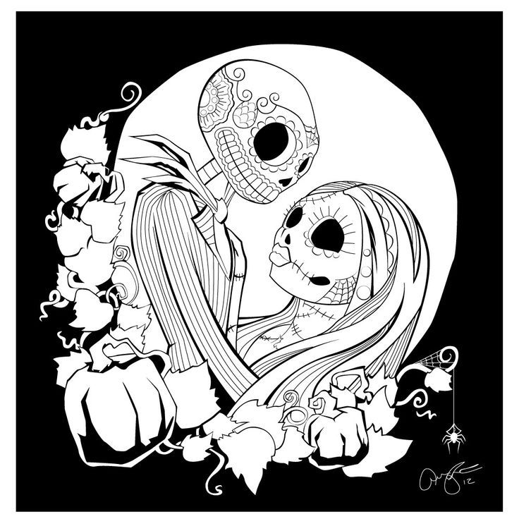 Nightmare Before Christmas Color Pages Coloring Home The Nightmare Before Coloring Pages