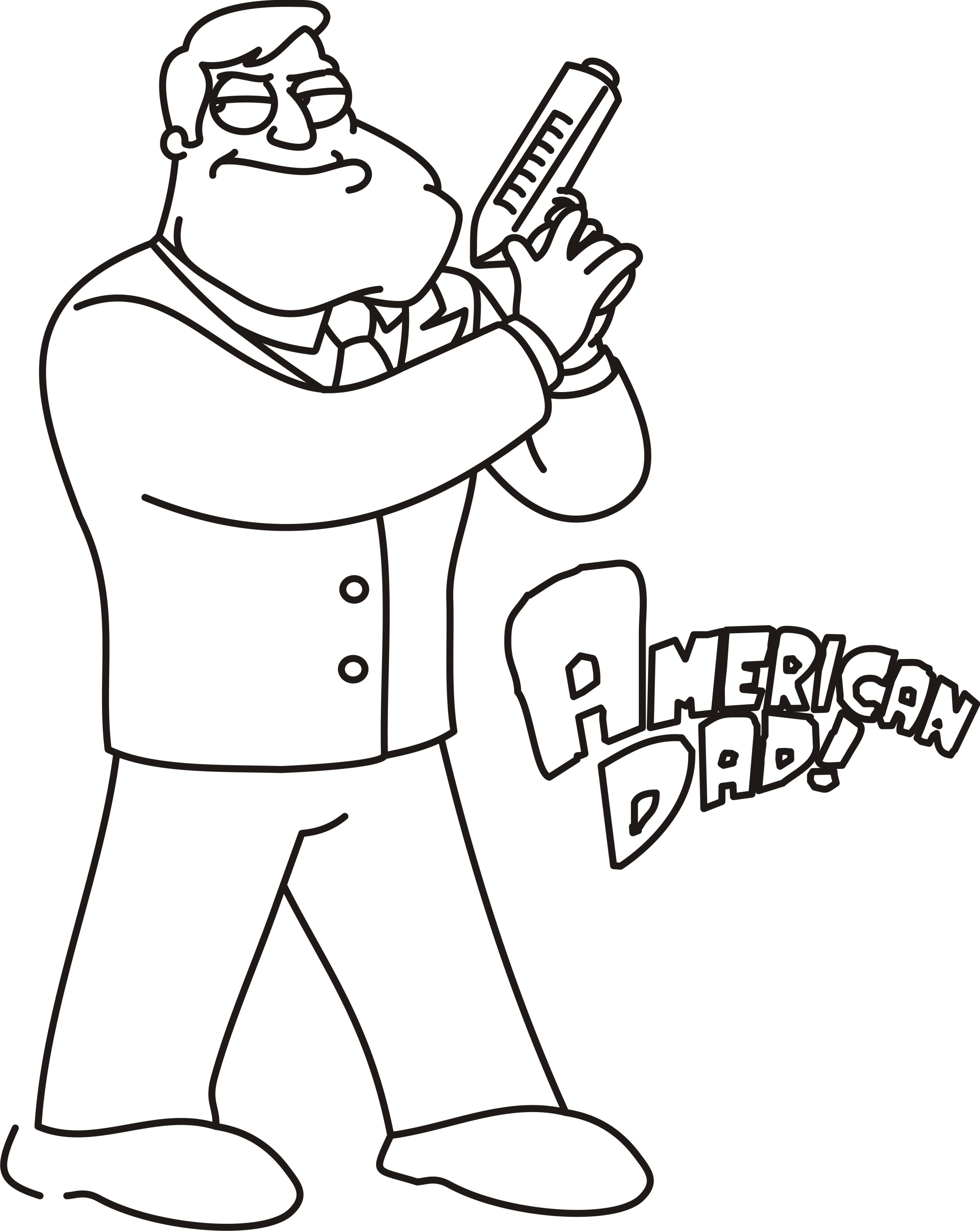 coloring pages of a dad - photo#37