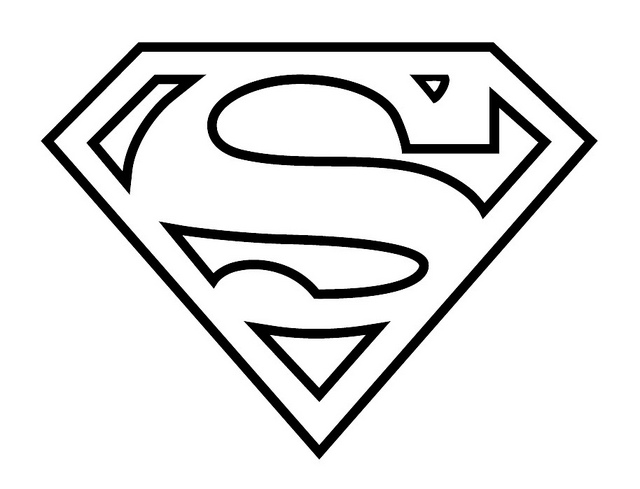 Superman Logo Coloring Pages AZ Coloring Pages Man Of Steel Logo Coloring Pages