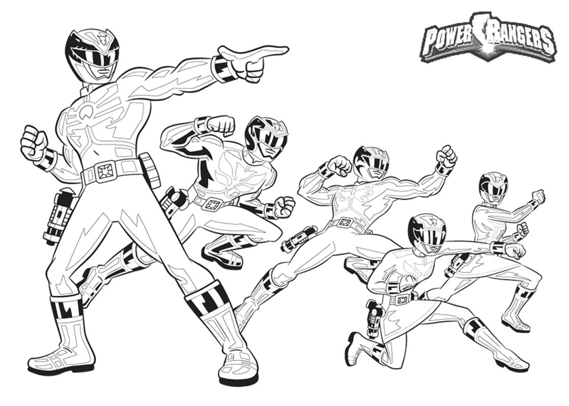Dinosaur Power Ranger Coloring Pages